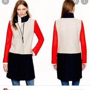 J. Crew colorblock coat